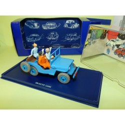 VOITURE TINTIN N°01 JEEP D'OBJECTIF LUNE ATLAS 1:43