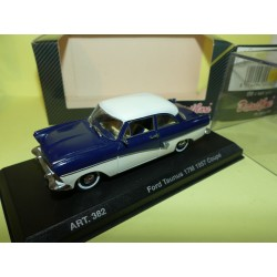 FORD TAUNUS 17M COUPE 1957 Bleu et Blanc DETAILCARS 382 1:43