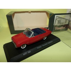 FORD TAUNUS BADEW CABRIOLET 1960 Rouge DETAILCARS 184 1:43