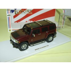 HUMMER H3 2006 Sonoma Red Bordeaux LUXURY COLLECTIBLES SPARK 101324 1:43