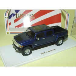 HUMMER H3T PICK UP 2008 Bleu LUXURY COLLECTIBLES SPARK 101294 1:43