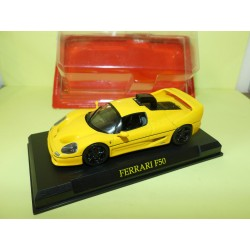 FERRARI F50 Jaune transformé FERRARI GT COLLECTION HACHETTE 1:43 sous coque