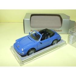 PORSCHE 911 CABRIOLET 964 Bleu NZG 1:43