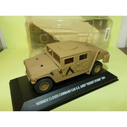 HUMMER CLOSED COMMAND CAR US ARMY 1991 MILITAIRE VICTORIA DE AGOSTINI 1:43