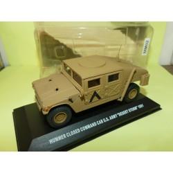 HUMMER CLOSED COMMAND CAR US ARMY 1991 MILITAIRE VICTORIA DE AGOSTINI 1:43