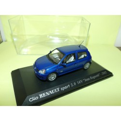 RENAULT CLIO SPORT 2.0 16V J. RAGNOTTI 2002 Bleu UNIVERSAL HOBBIES Collection M6 1:43