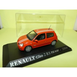 RENAULT CLIO II RS TEAM 200' Orange Bande Blanche UNIVERSAL HOBBIES Collection M6 1:43