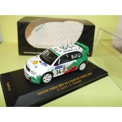 SKODA FABIA WRC RALLYE TOUR DE CORSE 2003 AURIOL IXO RAM135 1:43 Abd