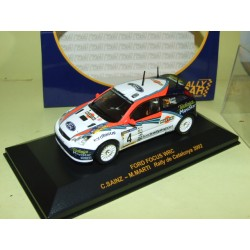 FORD FOCUS WRC RALLYE D'ESPAGNE 2002 SAINZ RALLY CAR 1:43