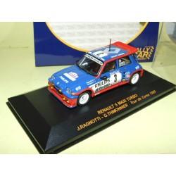 RENAULT 5 MAXI TURBO RALLYE TOUR DE CORSE 1985 RAGNOTTI IXO RALLY CAR 1:43 1er