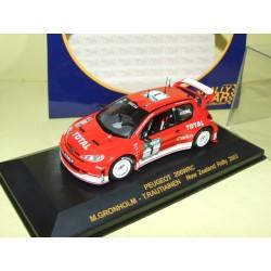 PEUGEOT 206 WRC RALLYE DE NOUVELLE ZELANDE 2003 M. GRONHOLM RALLY CAR 1:43 1er