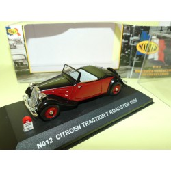CITROEN TRACTION 7 ROADSTER 1935 Noir et Bordeaux NOSTALGIE N012 1:43