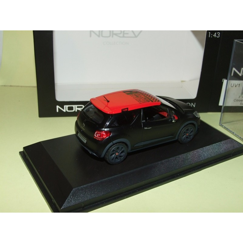 citroen ds3 racing s loeb 2012 noir mat norev 1 43 43miniauto. Black Bedroom Furniture Sets. Home Design Ideas
