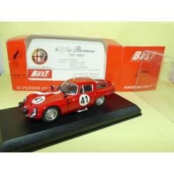 ALFA ROMEO GIULIA TZ1 N°41 LE MANS 1964 BEST 9097 1:43 15ème