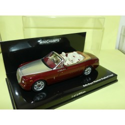 ROLLS ROYCE PHANTOM DROPHEAD COUPE CABRIOLET Bordeaux  Gris MINICHAMPS 1:43