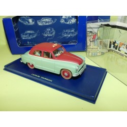 VOITURE TINTIN N°21 SIMCA ARONDE TAXI DE L'AFFAIRE TOURNESOL ATLAS 1:43