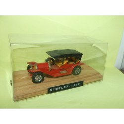 SIMPLEX 1912 DOUBLE ROADSTER Rouge MATCHBOX 1:43