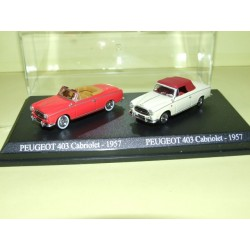 PEUGEOT 403 Cabriolet Rouge 1957 et Creme UNIVERSAL HOBBIES 1:87