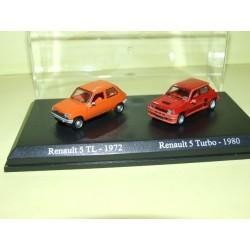 RENAULT 5 TL Orange 1972 et 5 TURBO 1980 Rouge UNIVERSAL HOBBIES 1:87