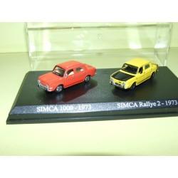 SIMCA 1000 1973 et RALLYE 2 1973 UNIVERSAL HOBBIES 1:87