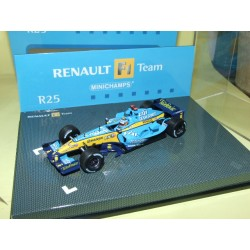 RENAULT F1 TEAM R25 GP 2005 F. ALONSO MINICHAMPS 1:43