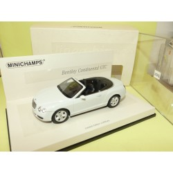 BENTLEY CONTINENTAL GTC 2007 Blanc MINICHAMPS 1:43