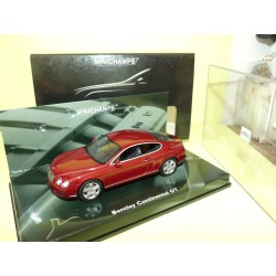 BENTLEY CONTINENTAL GT 2003 Rouge MINICHAMPS 1:43