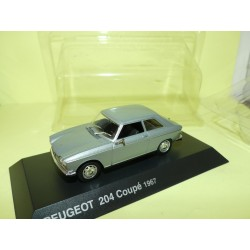 PEUGEOT 204 COUPE 1967 Gris NOREV 1:43 blister