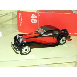 BUGATTI 5000 CC Modello T 50 1932 Rouge et Noir RIO 48 1:43