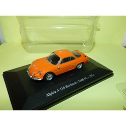RENAULT ALPINE A110 BERLINETTE 1600 SC 1974 Orange ELIGOR HACHETTE 1:43