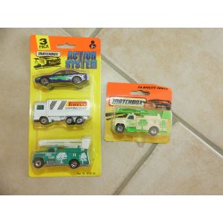 LOT DE 4 MODELES ACTION SYSTEM UTILITY TRUCK MATCHBOX  50701.20