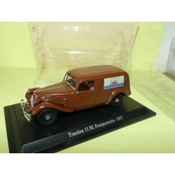 CITROEN TRACTION 11 BL FOURGONNETTE 1937 Marron UNIVERSAL HOBBIES 1:43 blister