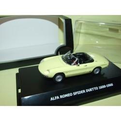 ALFA ROMEO SPIDER DUETTO 1600 1966 Jaune MAXI CAR 1:43