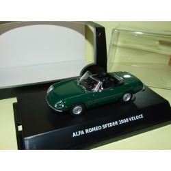 ALFA ROMEO SPIDER 2000 VELOCE Vert MAXI CAR 1:43