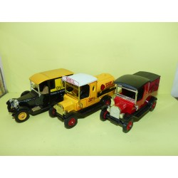 LOT 3 CAMIONNETTES FORD TALBOT PUBLICITAIRE DUNLOP SHELL ROYAL MAIL MATCHBOX 1:43 sans boite