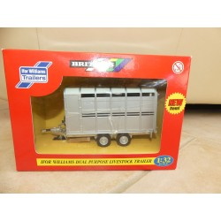 TRACTEUR REMORQUE IFOR WILLIAMS DUAL PURPOSE LIVESTOCK TRAILER BRITAINS 40710 1:32