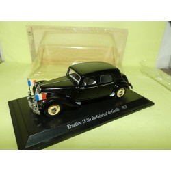 CITROEN TRACTION 15 SIX DU GENERAL DE GAULLE 1954 UNIVERSAL HOBBIES 1:43 blister