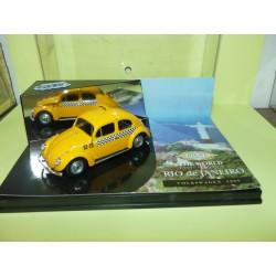 VW COCCINELLE 1200 TAXI DE RIO DE JANERO VITESSE CITY CT003 1:43 Vitrine cassée