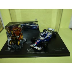 WILLIAMS RENAULT FW19 GP 1997 VILLENEUVE  + VOITURETTE 1989 VITESSE 1:43