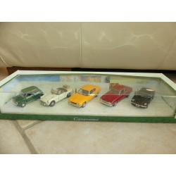 COFFRET MINI MGB FORD LOTUS CARARAMA 1:43