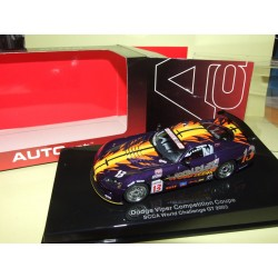 DODGE VIPER COMPETITION COUPE SCCA WORL CHALLENGE GT 2003 AUTOART 1:43