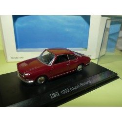 SIMCA 1000 COUPE BERTONE Bordeaux NOREV 1:43