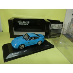 PORSCHE 911 TURBO Type 993 1995 Bleu MINICHAMPS 1:43