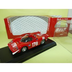 ABARTH 2000 N°178 TARGA FLORIO 1969 BEST 9507 1:43