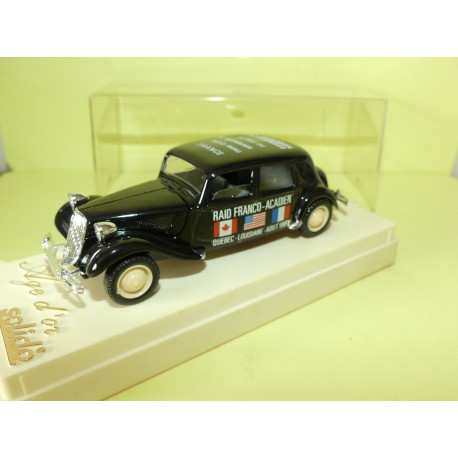 CITROEN TRACTION 15CV RAID FRANCO ACADIEN 1988 SOLIDO 1:43