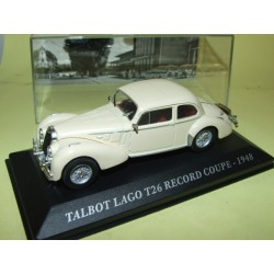 TALBOT LAGO T26 RECORD COUPE Crème 1948 ALTAYA 1:43