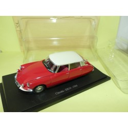 CITROEN DS 19 1966 Rouge Toit Blanc UNIVERSAL HOBBIES 1:43 blister