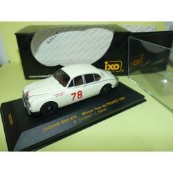 JAGUAR MKII RALLYE TOUR DE FRANCE 1960 IXO RAC098 1:43 1er