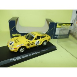 FERRARI 365 GTB4 DAYTONA N°36 LE MANS 1972 TOP MODEL TMC008 1:43