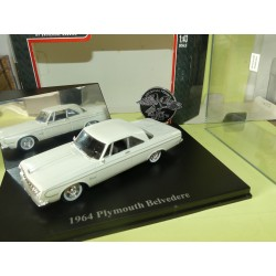 PLYMOUTH BELVEDERE 1964 Blanc UNIVERSAL HOBBIES 1:43